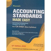 Commercial's Accounting Standards Made Easy for CA Inter May 2020/ Nov. 2020 Exam [New Syllabus] by CA. Ravi Kanth Miriyala, CA. Sunitanjani Miriyala