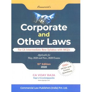 Commercial's Corporate & Other Laws for CA Intermediate May 2020 Exam [New Syllabus] by CA. Vijay Raja