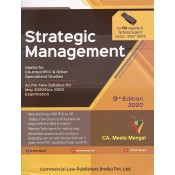 Commercial's Strategic Management for CA Inter [IPCC] May 2020 & November 2020 Exam by CA. Meeta Mangal [New Syllabus]