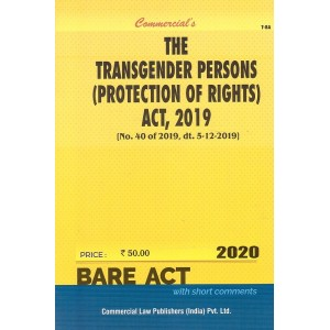 Commercial's The Transgender Persons (Protection of Rights) Act, 2019 Bare Act