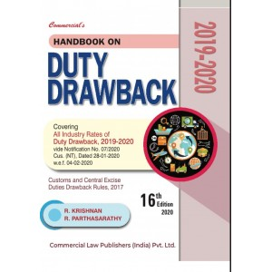 Commercial's Handbook On Duty Drawback 2019-20 by R. Krishnan & R. Parthasarathy