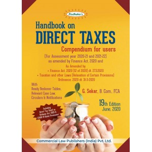 Padhuka's Handbook on Direct Taxes [DT] - Compendium for Users for A.Y. 2020-21 by G. Sekar| Commercial Law Publisher