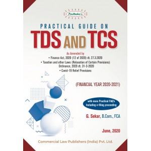 Padhuka's Practical Guide on TDS and TCS for 2020-21 by G. Sekar | Commercial Law Publisher