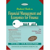 Padhuka's Students Guide on Financial Management and Economics for Finance for CA Inter November 2020 Exam by CA. G. Sekar [New Syllabus] | Commercial Law Publisher