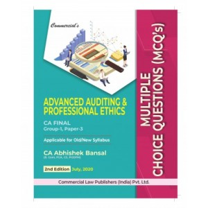 Commercial's Advanced Auditing & Professional Ethic MCQs for CA Final November 2020 Exam [Old & New Syllabus] by Abhishek Bansal