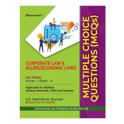 Commercial's Corporate Law & Allied / Economic Laws Multiple Choice Questions (MCQs) For CA Final November 2020 Exam Old & New Syllabus by CA Abhishek Bansal