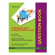 Commercial's Corporate Law & Allied / Economic Laws Question Book/Bank For CA Final November 2020 Exam Old & New Syllabus by CA Abhishek Bansal