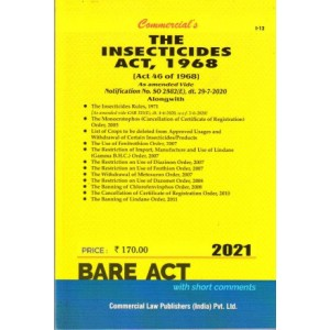 Commercial's The Insecticides Act, 1968 with Rules (Bare Act)