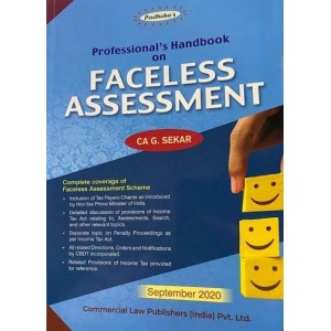 Padhuka's Professional's Handbook on Faceless Assessment by CA. G. Sekar | Commercial Law Publisher