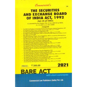 Commercial's The Securities & Exchange Board of India Act, 1992 Bare Act [SEBI]