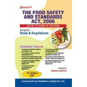 Commercial's The Food Safety & Standards Act, 2006 alongwith Rules & Regulation by Virag Gupta [Edn. 2021]