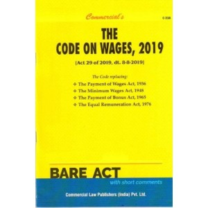Commercial's The Code of Wages, 2019 Bare Act