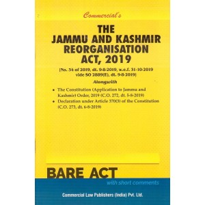 Commercial's The Jammu and Kashmir Reorganisation Act, 2019 Bare Act
