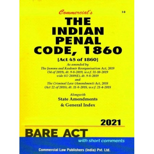 Commercial's Indian Penal Code, 1860 (IPC) Bare Act