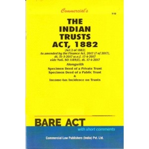 Commercial's The Indian Trusts Act, 1882 Bare Act 2021