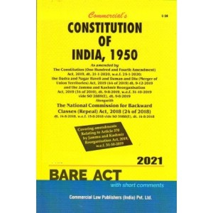 Commercial's The Constitution of India, 1950 Bare Act