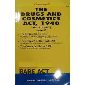Commercial's Guide to Drugs & Cosmetics Act 1940 Bare Act [Edn. 2021]