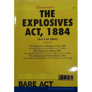 Commercial's Explosives Act, 1884 Bare Act 2021