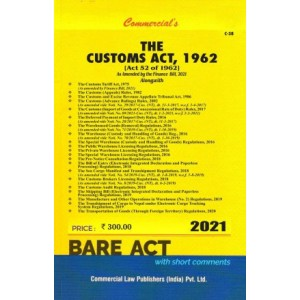 Commercial's The Customs Act, 1962 Bare Act