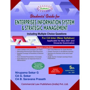Padhuka's Enterprises Information Systems & Strategic Management including MCQs for CA Inter May 2021 Exam [New Syllabus] by Nirupama Sekar, G. Sekar | Commercial Law Publisher