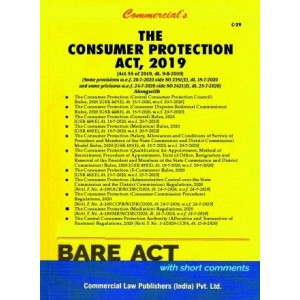 Commercial's The Consumer Protection Act, 2019 Bare Act  [Edn. 2021]