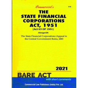 Commercial's The State Financial Corporations Act, 1951 Bare Act