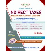 Padhuka's Students Referencer on Indirect Taxes for CA Final May 2021 Exam [IDT - Old & New Syllabus] by CA. G. Sekar | Commercial Law Publisher