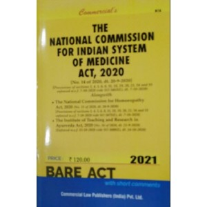 Commercial's National Commission For Indian System Of Medicine Act 2020 Bare Act 2021