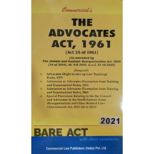 Commercial's Advocates Act, 1961 (Bare Acts with Short Comments)
