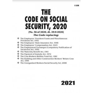 Commercial's The Code of Social Security, 2020 Bare Act