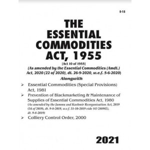 Commercial's Essential Commodities Act, 1955 Bare Act