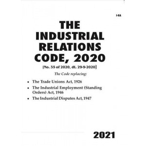 Commercial's The Industrial Relations Code, 2020 Bare Act