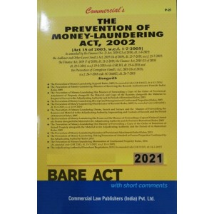 Commercial's The Prevention of Money Laundering Act, 2002 Bare Act 2021