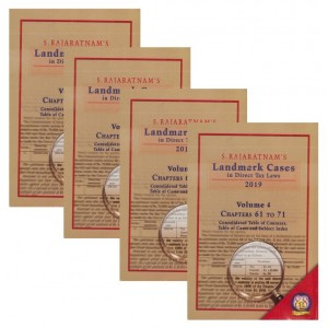 S. Rajaratnam's Landmark Cases in Direct Tax Laws 2019 in 4 HB Volumes by Company Law Institute