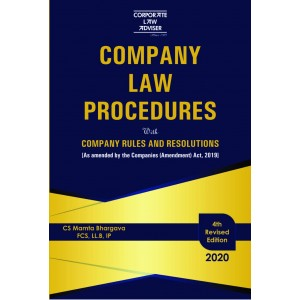 Corporate Law Adviser's Company Law Procedures with Company Rules & Resolutions [HB] by CS. Mamta Bhargava