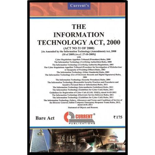 Current's Information Technology Act, 2000 - Bare Act