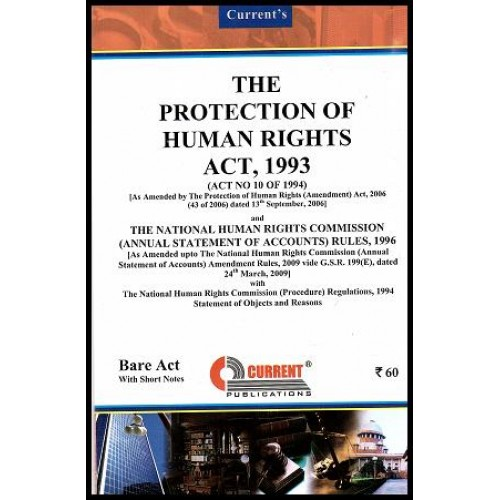Current's Protection of Human Rights Act, 1993 - Bare Act