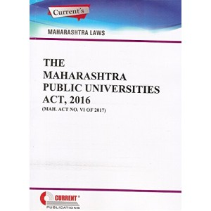 Current Publication's The Maharashtra Public Universities Act, 2016