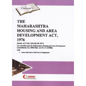 Current's Maharashtra Housing and Area Development Act, 1976 [MAHDA]