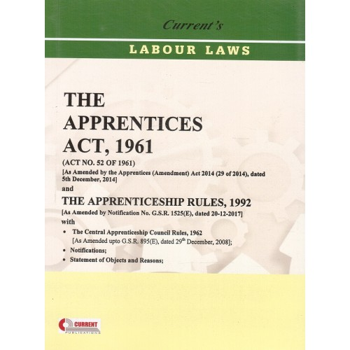Currrent's Apprentices Act, 1961 with Apprenticeship Rules, 1992 Bare Act