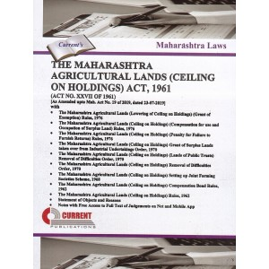 Current Publication's The Maharashtra Agricultural Lands (Ceiling on Holdings) Act, 1961 | Bare Act