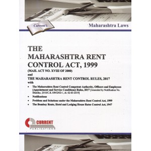 Current Publication's The Maharashtra Rent Control Act, 1999 with Rules, 2017