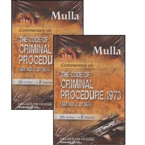 Delhi Law House's Mulla's Commentary on The Code of Criminal Procedure, 1973 (Cr.P.C) Adv. Amar S. Mulla