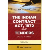 Sanjiva Row's The Indian Contract Act, 1872 and Tenders [HB] by Delhi Law House