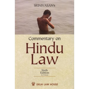 Delhi Law House's Commentary on Hindu Law by M. N. Srinivasan [2 HB Volumes]