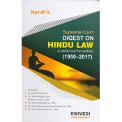 Dwivedi Law Agency's Supreme Court Digest on Hindu Law [Codified and Uncodified] (1950 - 2017) by N. Nandi [HB]