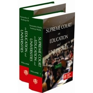 Eastern Book Company's (EBC) Supreme Court on Education and Universities by Surendra & Sudeep Malik (Set of 3 Volumes)