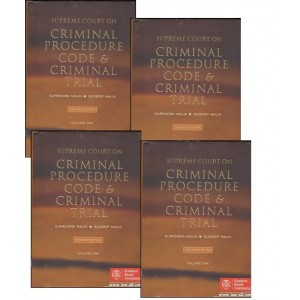 Eastern Book Company's Supreme Court on Criminal Procedure Code, 1973 (Cr. P. C) and Criminal Trial by Surendra and Sudeep Malik (4 HB Vols.)