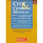 EBC's Civil & Criminal Manual [3 Vols] Containing CPC with Limitation Act, CrPC, IPC and Evidence Act (Coat Pocket Edition]