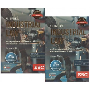 P. L. Malik's Industrial Law with Free CD-ROM by Eastern Book Company [2 HB Vols.]